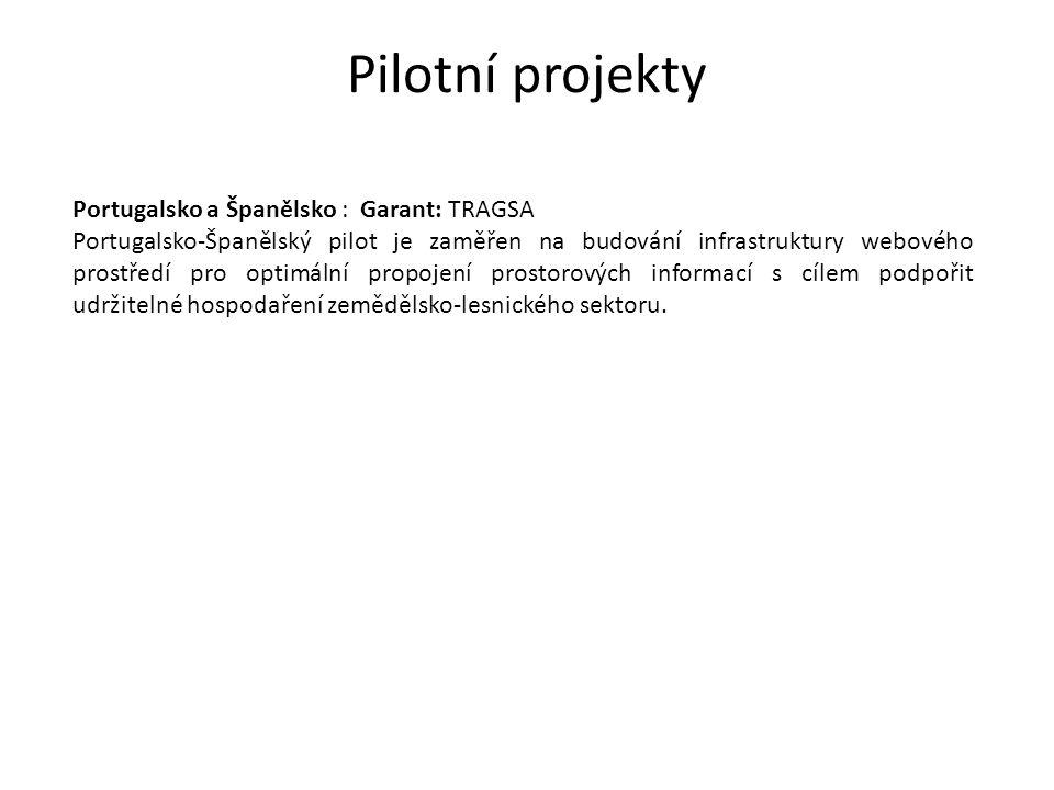 Pilotní projekty Portugalsko a Španělsko : Garant: TRAGSA Portugalsko-Španělský pilot je zaměřen na budování infrastruktury webového prostředí pro opt
