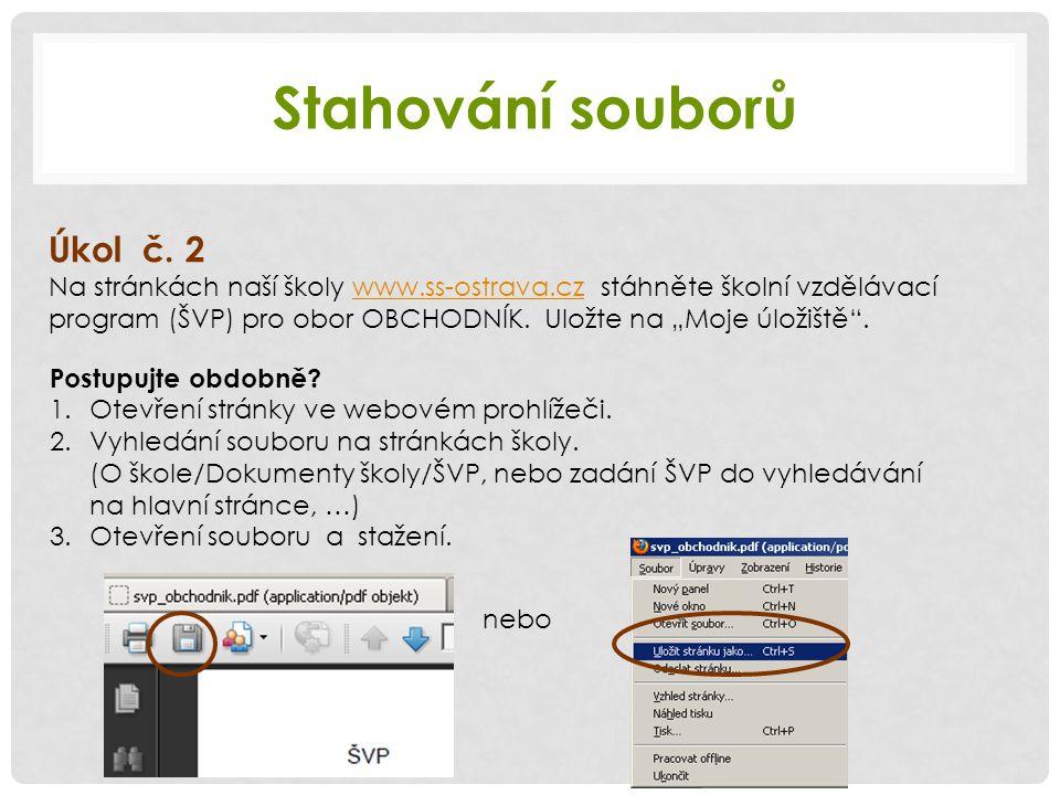 Stahování souborů Úkol č.