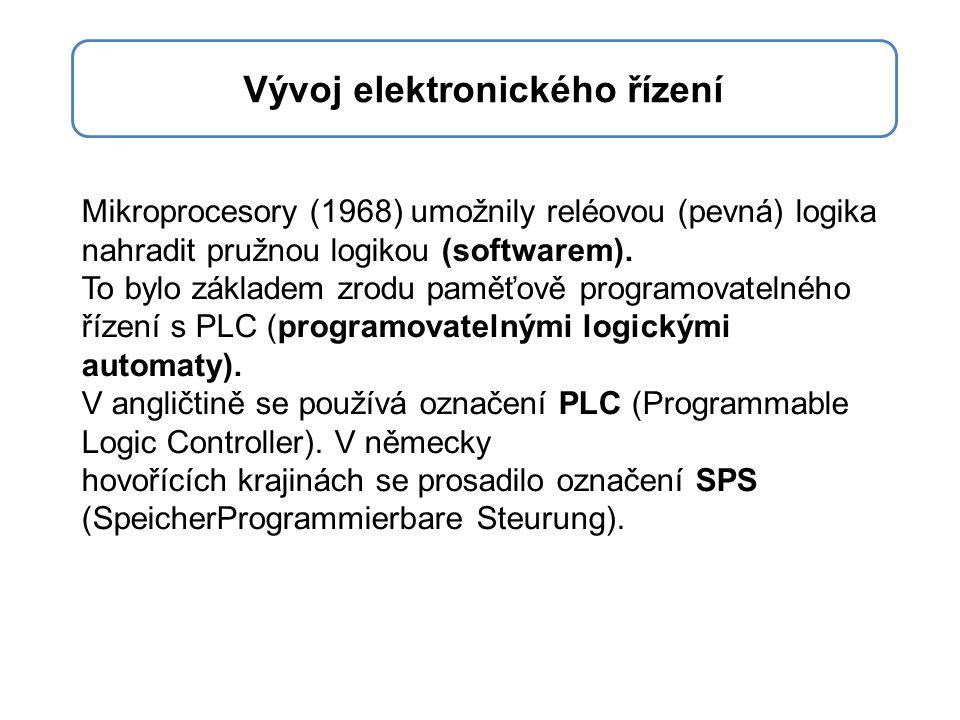 Mikroprocesory (1968) umožnily reléovou (pevná) logika nahradit pružnou logikou (softwarem).