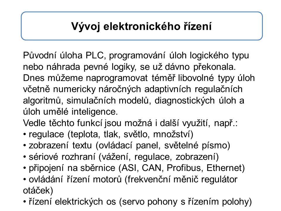 Umístění PLC během zpracování dat a funkce dnešních PLC jsou mnohem komplexnější a rozdíl proti mikropočítačovým systémům už není tak jednoznačný.