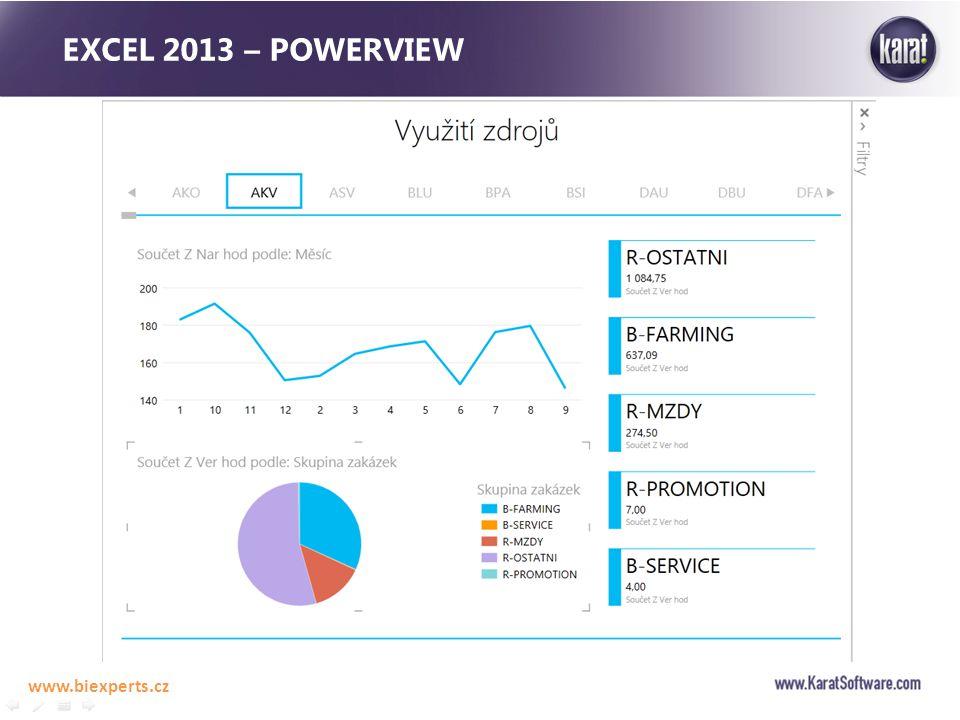 EXCEL 2013 – POWERVIEW www.biexperts.cz
