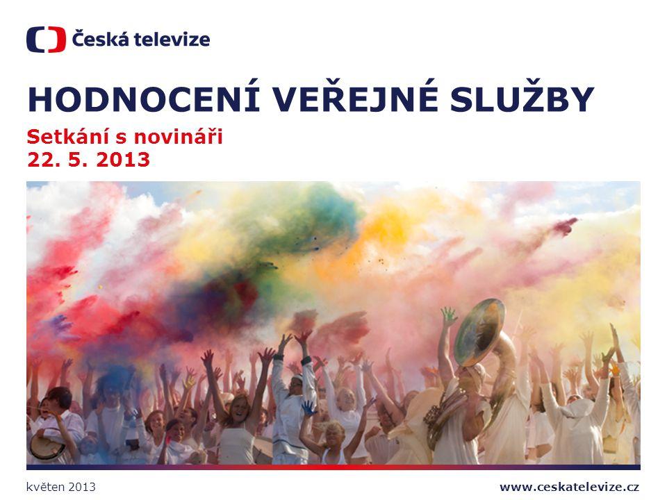 www.ceskatelevize.cz HODNOCENÍ VEŘEJNÉ SLUŽBY Setkání s novináři 22. 5. 2013 květen 2013