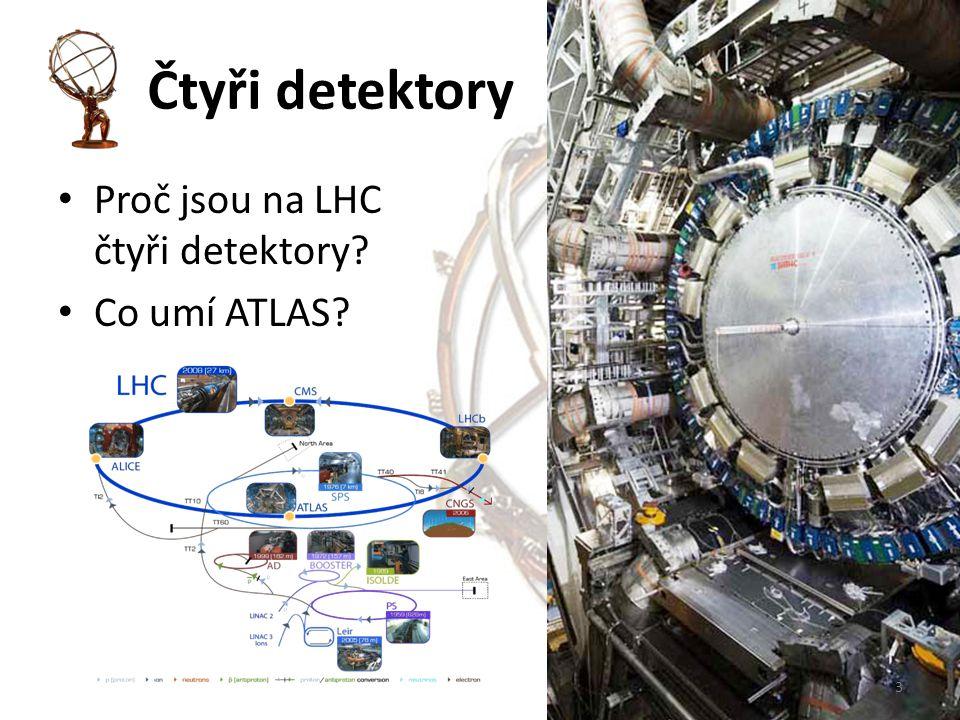Čtyři detektory Proč jsou na LHC čtyři detektory? Co umí ATLAS? 3