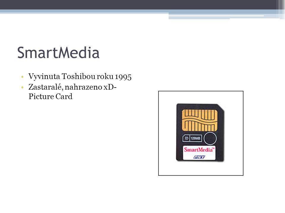 SmartMedia Vyvinuta Toshibou roku 1995 Zastaralé, nahrazeno xD- Picture Card