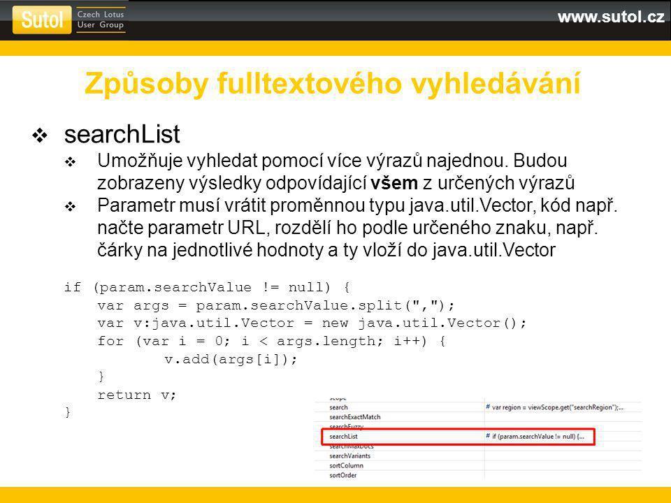 www.sutol.cz  searchList  Umožňuje vyhledat pomocí více výrazů najednou.