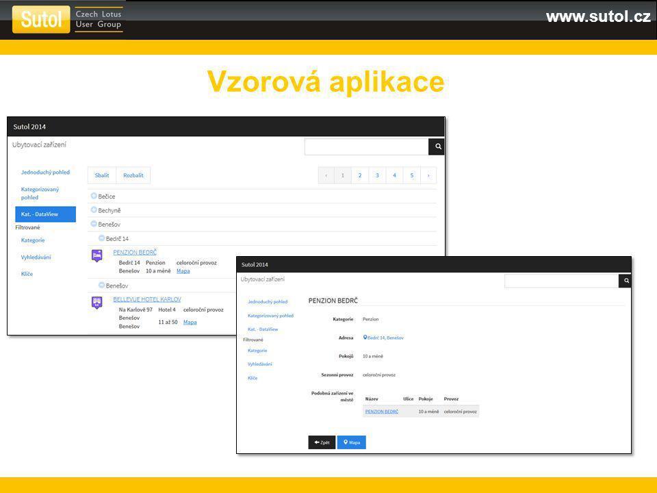 www.sutol.cz Vzorová aplikace