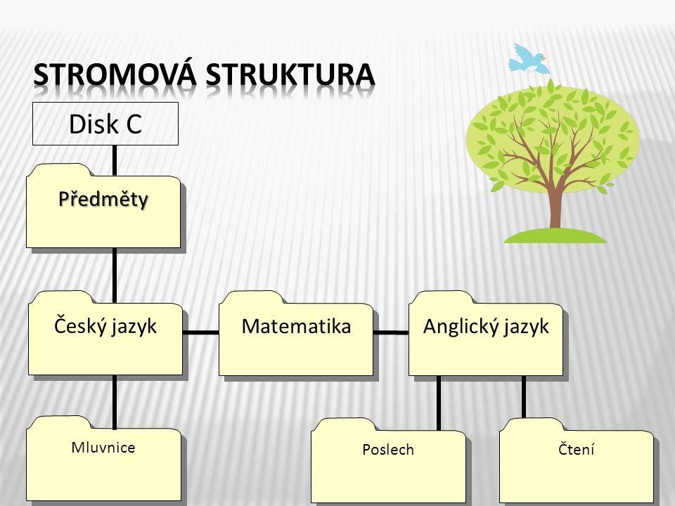 PředmětyPředměty Disk C Český jazyk Matematika Anglický jazyk Mluvnice Poslech Čtení