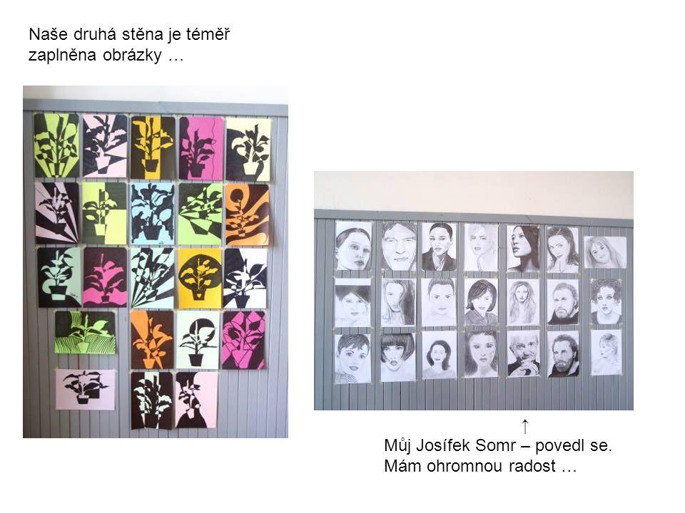↑ Můj Josífek Somr – povedl se. Mám ohromnou radost … Naše druhá stěna je téměř zaplněna obrázky …