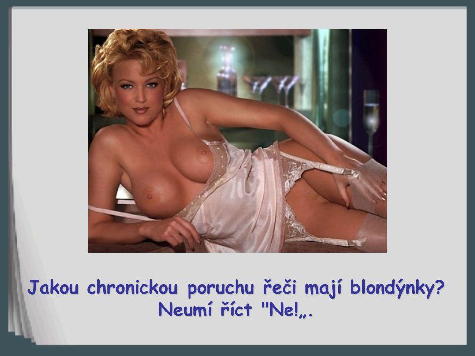 Co blondýnka řekne po sexu?