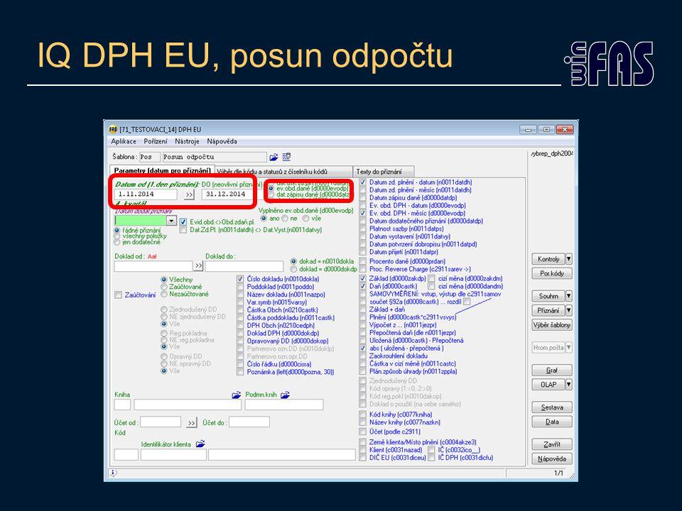 IQ DPH EU, posun odpočtu