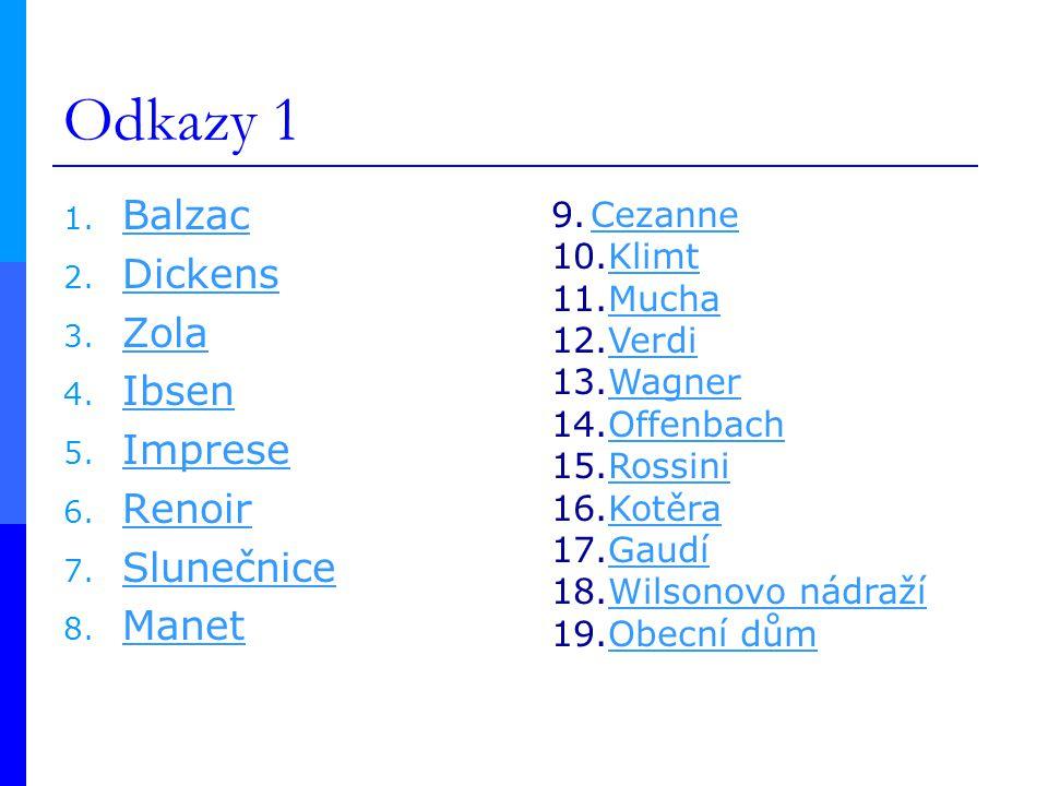 Odkazy 1 1.Balzac Balzac 2. Dickens Dickens 3. Zola Zola 4.