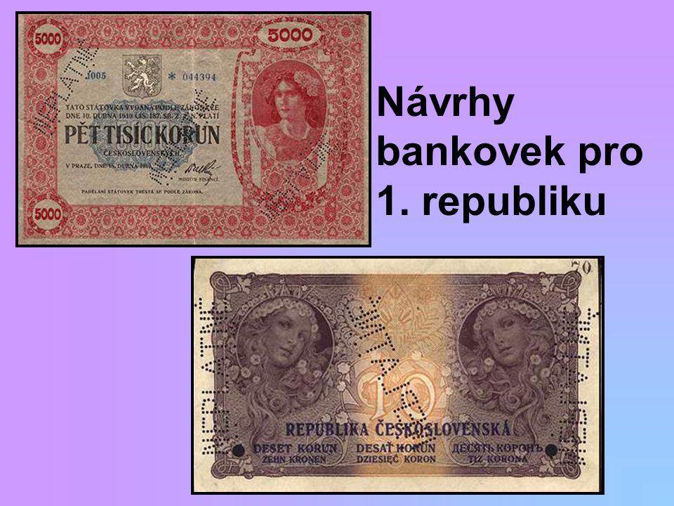 Návrhy bankovek pro 1. republiku