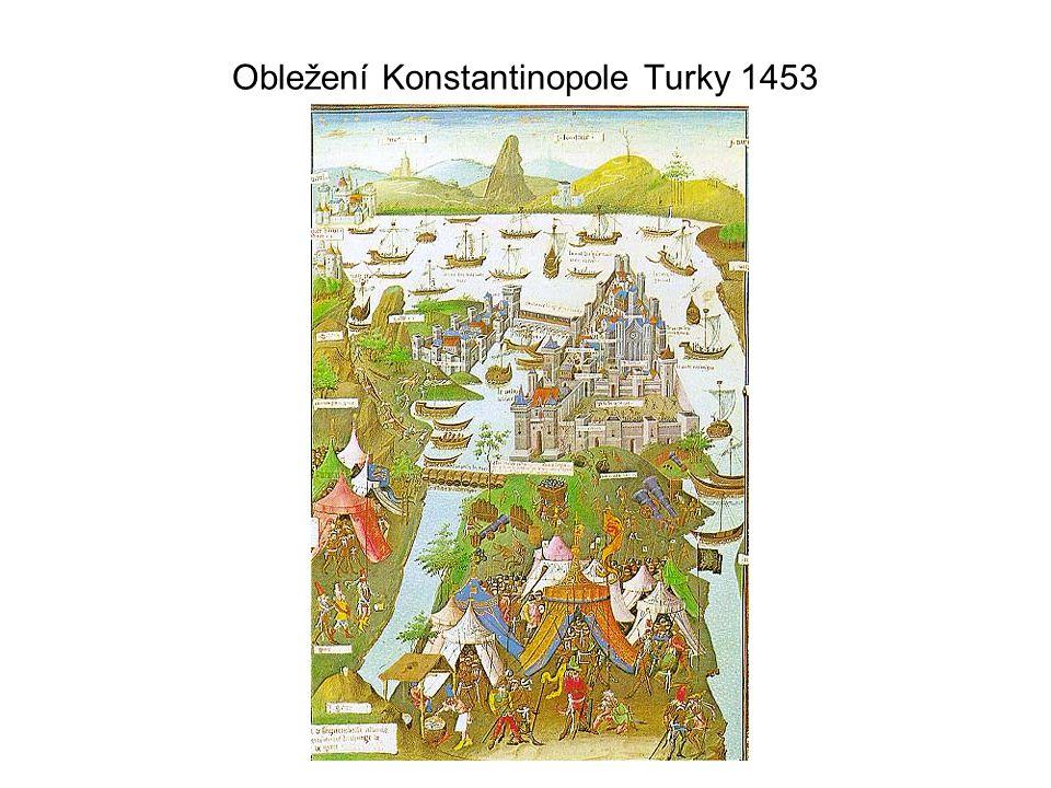 Obležení Konstantinopole Turky 1453