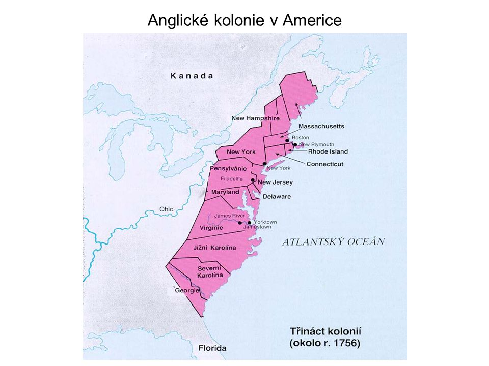Anglické kolonie v Americe