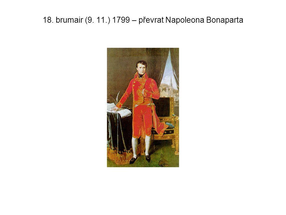 18. brumair (9. 11.) 1799 – převrat Napoleona Bonaparta