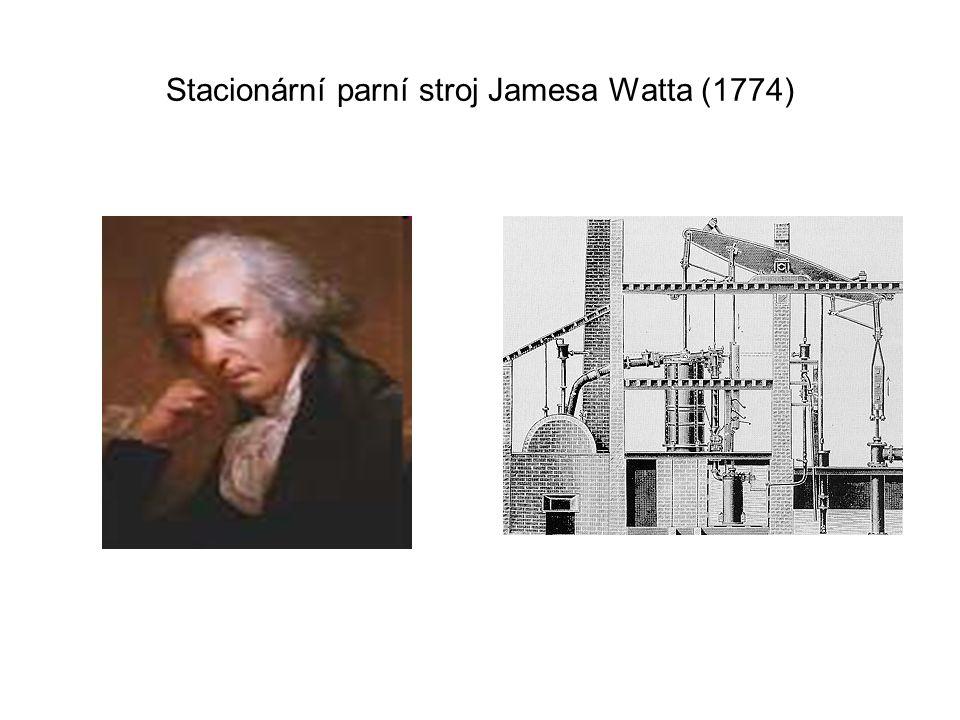Stacionární parní stroj Jamesa Watta (1774)