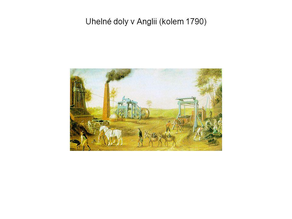 Uhelné doly v Anglii (kolem 1790)