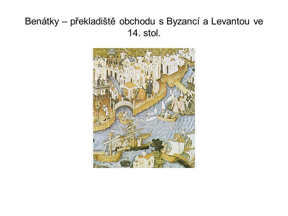 Benátky – překladiště obchodu s Byzancí a Levantou ve 14. stol.