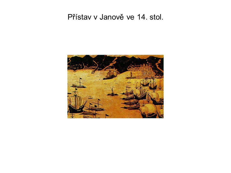 Přístav v Janově ve 14. stol.