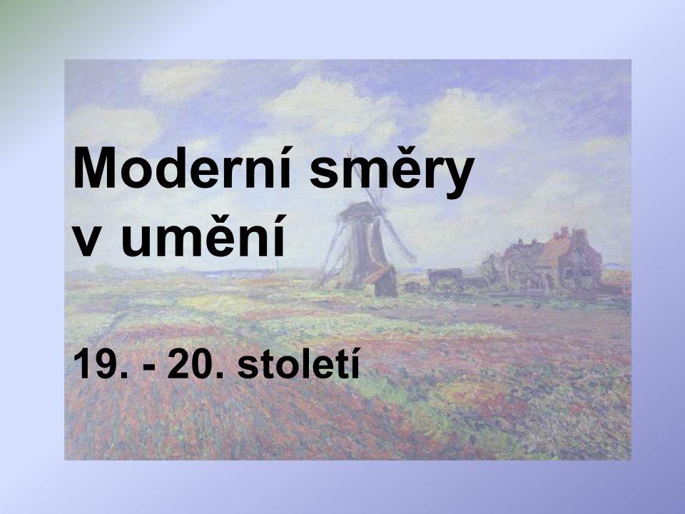 Impresionismus umělecký směr hlavně malířství konce 19.