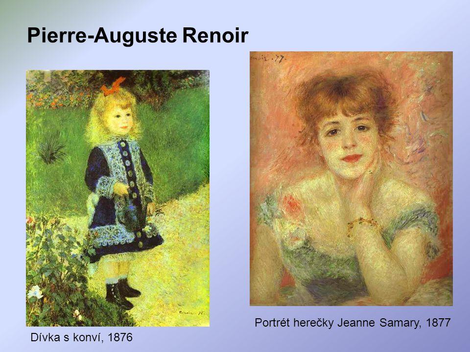 Pierre-Auguste Renoir Dívka s konví, 1876 Portrét herečky Jeanne Samary, 1877