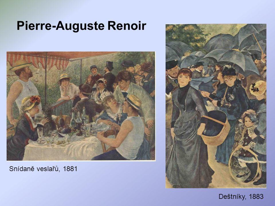 Pierre-Auguste Renoir Snídaně veslařů, 1881 Deštníky, 1883