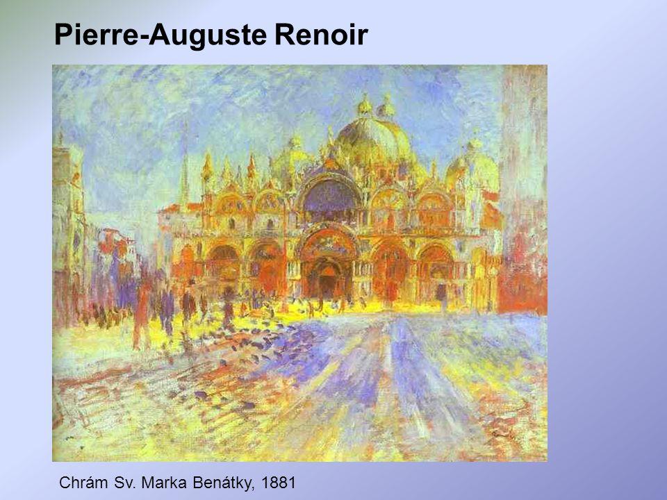Pierre-Auguste Renoir Chrám Sv. Marka Benátky, 1881