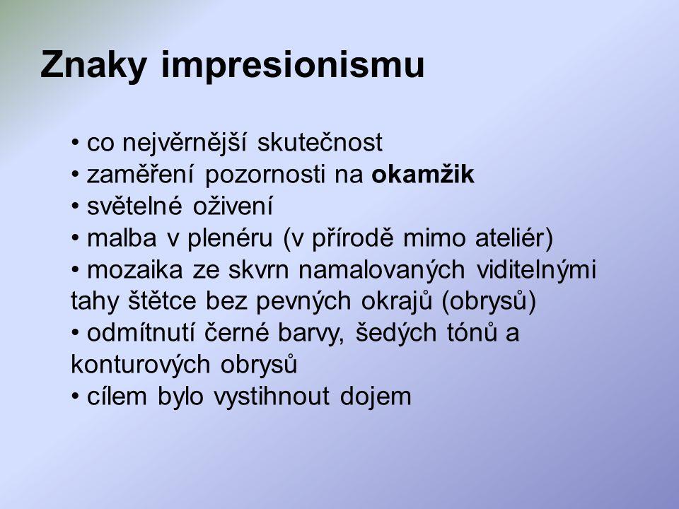 Čeští impresionisté Antonín Slavíček 1870 - 1910 U nás v Kameničkách, 1904