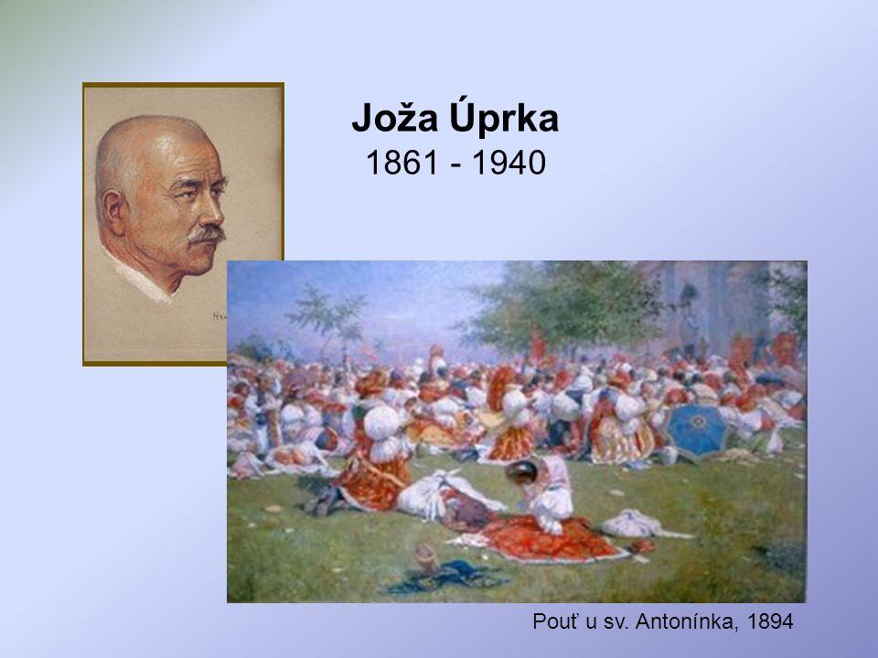 Joža Úprka 1861 - 1940 Pouť u sv. Antonínka, 1894