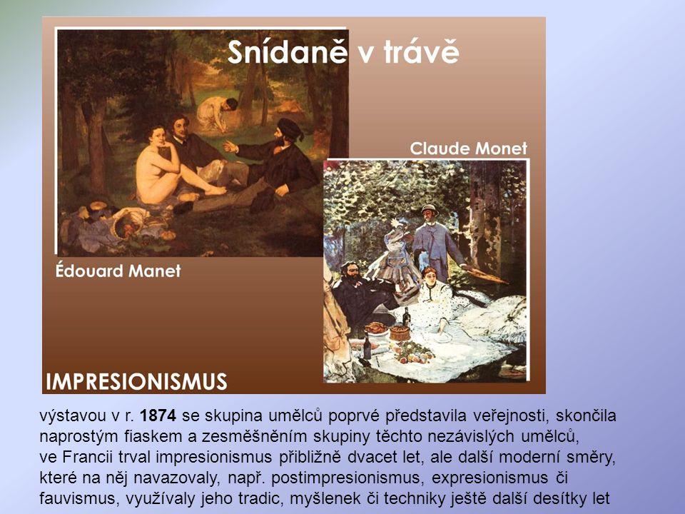 Pierre-Auguste Renoir /renoár/ 1841 - 1919 Autoportrét, 1910 nevzdal se figurální malby a portrétu, s oblibou maloval ženy a děti, typickým znakem je mistrovské zachycení hry světelných paprsků na lidském těle