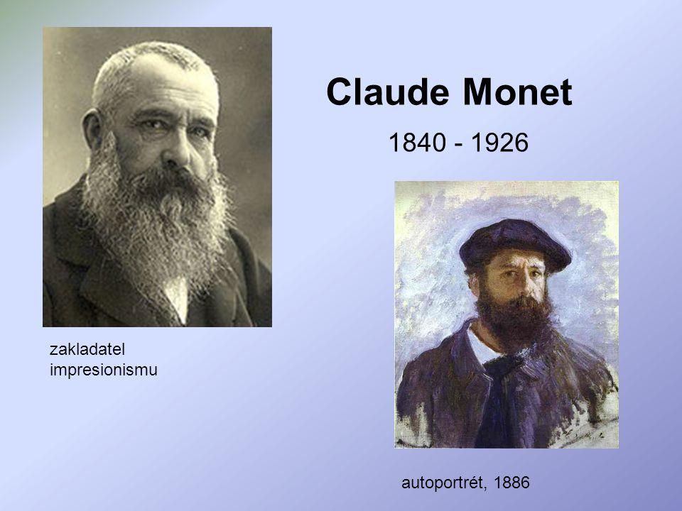 Claude Monet zakladatel impresionismu 1840 - 1926 autoportrét, 1886