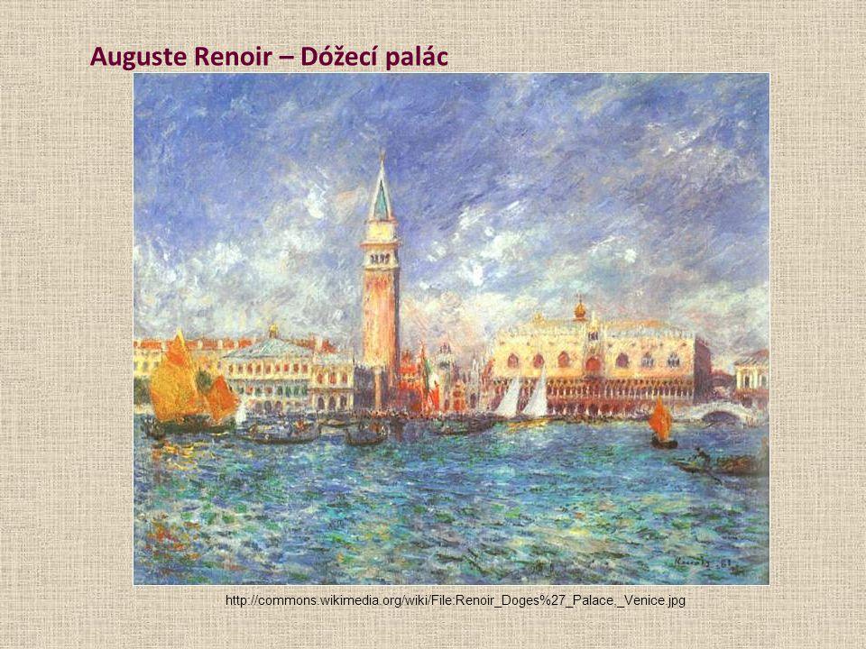 Auguste Renoir – Dóžecí palác http://commons.wikimedia.org/wiki/File:Renoir_Doges%27_Palace,_Venice.jpg
