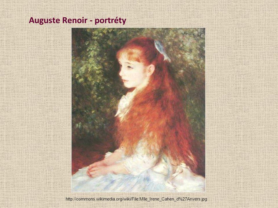 Auguste Renoir - portréty http://commons.wikimedia.org/wiki/File:Mlle_Irene_Cahen_d%27Anvers.jpg
