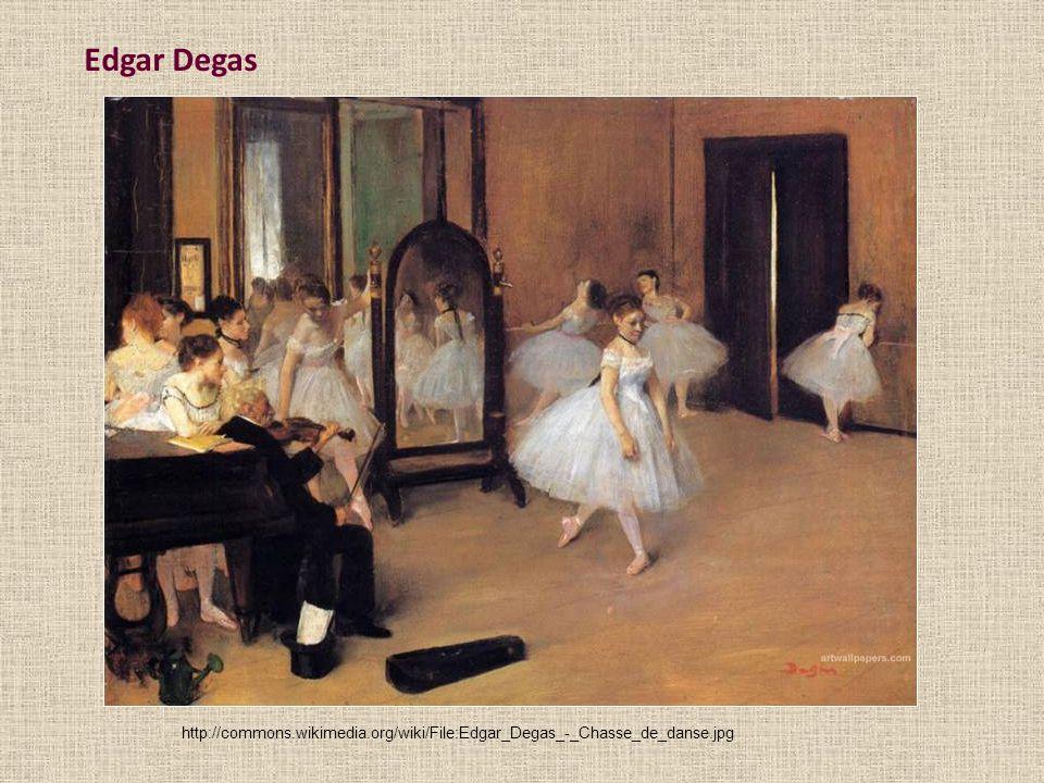 Edgar Degas http://commons.wikimedia.org/wiki/File:Edgar_Degas_-_Chasse_de_danse.jpg