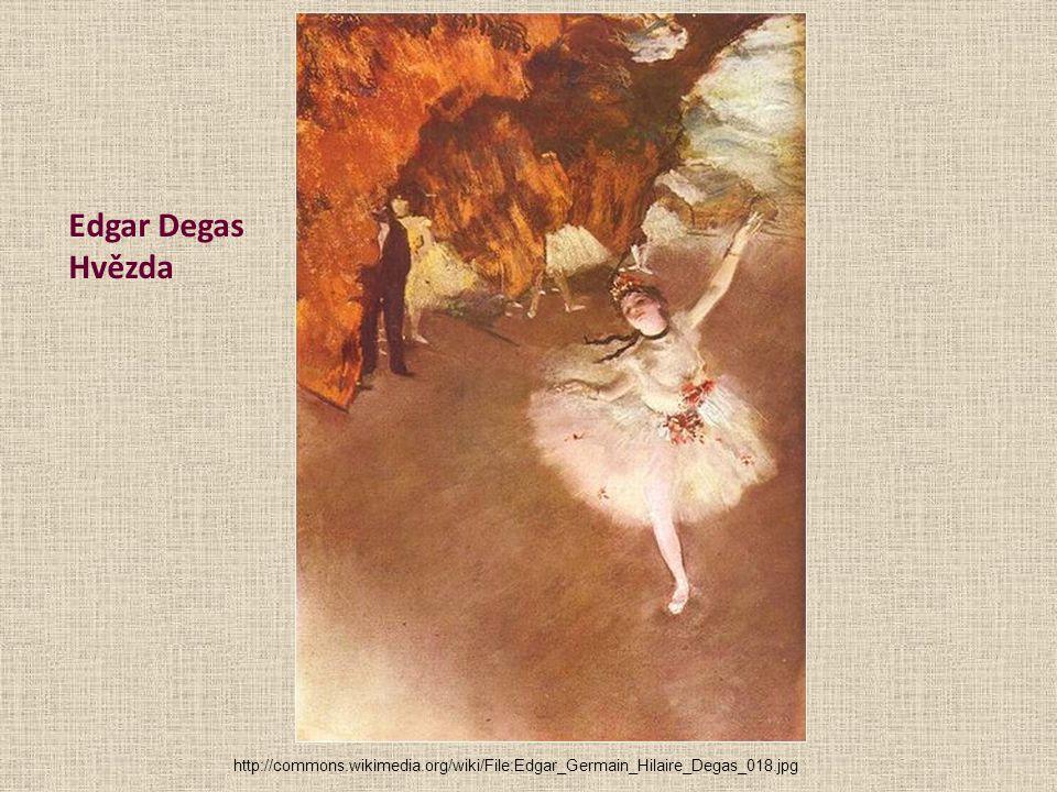Edgar Degas Hvězda http://commons.wikimedia.org/wiki/File:Edgar_Germain_Hilaire_Degas_018.jpg