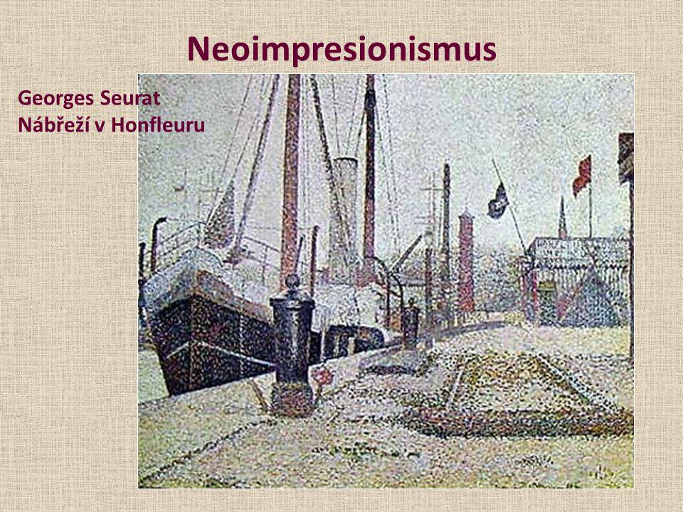 Neoimpresionismus Georges Seurat Nábřeží v Honfleuru