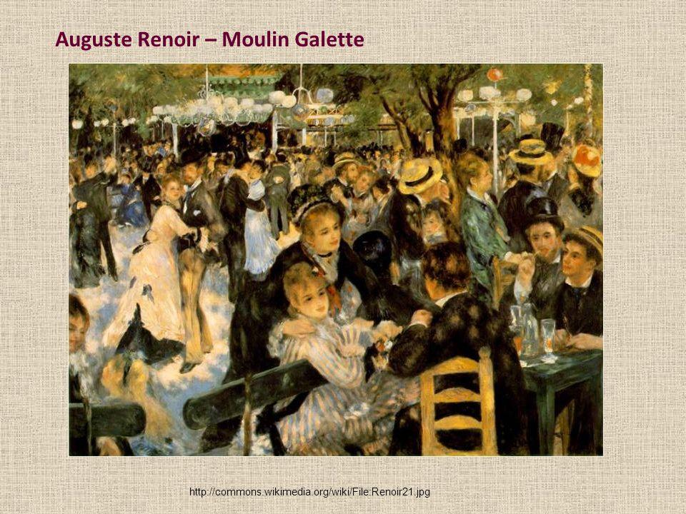 Auguste Renoir – Moulin Galette http://commons.wikimedia.org/wiki/File:Renoir21.jpg