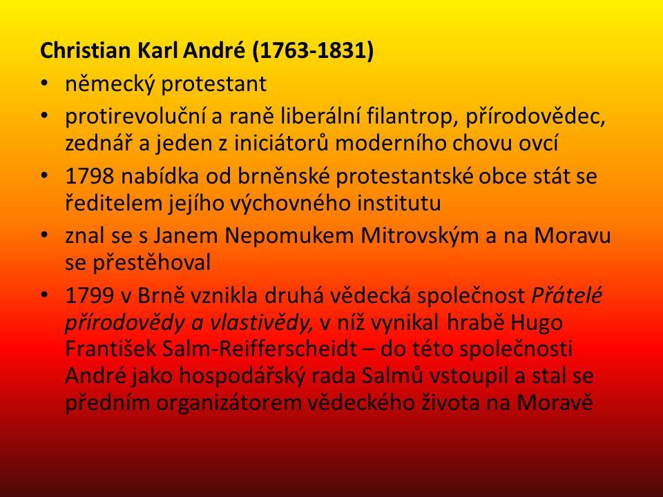 Christian Karl André (1763-1831) německý protestant protirevoluční a raně liberální filantrop, přírodovědec, zednář a jeden z iniciátorů moderního cho
