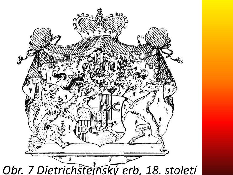 Obr. 7 Dietrichštejnský erb, 18. století
