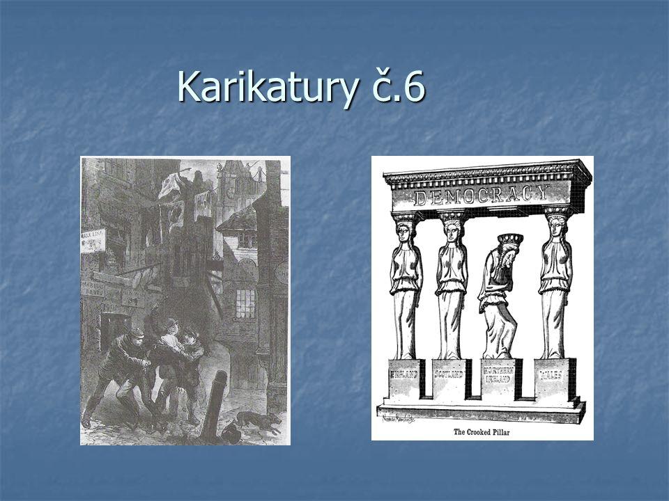 Doprovodný text je karikaturám Cílem každé z těchto šesti párů karikatur je ukázat žákům, jak se právě Velká Británie vyvíjela v celém 19.