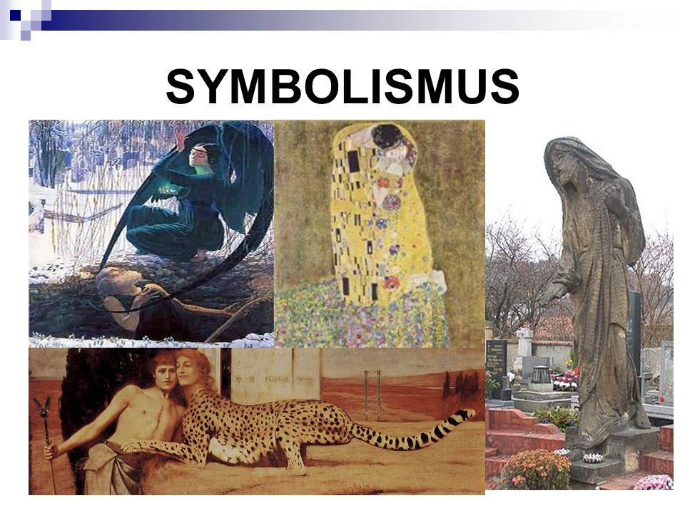z řečtiny symbolón = znak reakce na realismus, naturalismus i impresionismus 80.