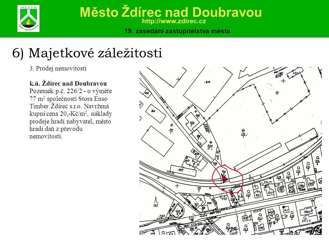 6) Majetkové záležitosti 3.Prodej nemovitostí k.ú.