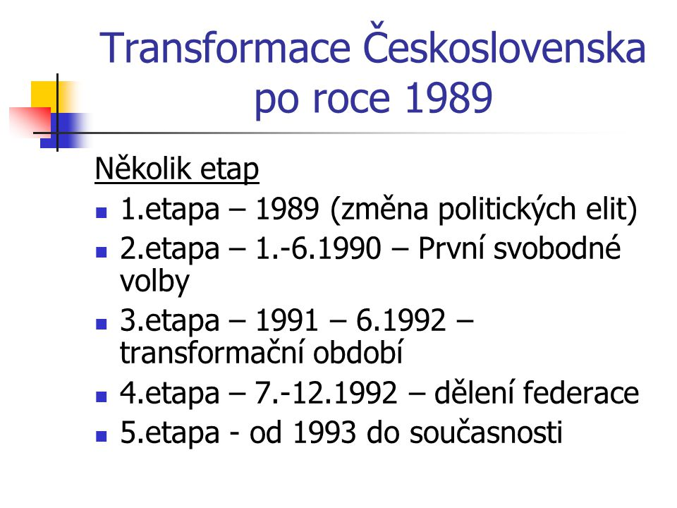 Volby 2006 Do sněmovny se poprvé dostala Strana zelených naopak US-DEU podle očekávání propadla Výsledek ukázal disproporční prvky, vnesené do volebního zákona opozičně-smluvními reformami, a dopadl patem – oba bloky vzniklé ve sněmovně (ČSSD a KSČM proti ODS, KDU-ČSL a SZ) získaly po 100 poslancích Následovalo bezprecedentní období vládní krize a nikam nevedoucích vyjednávání, trvající až do ledna 2007 ODS – 35 % ČSSD – 32 % KSČM – 13 % KDU-ČSL – 7 % SZ – 6 % Poté vláda koalice ODS + KDU-ČSL + SZ Premiér Mirek Topolánek Vládě vyslovena nedůvěra 2009