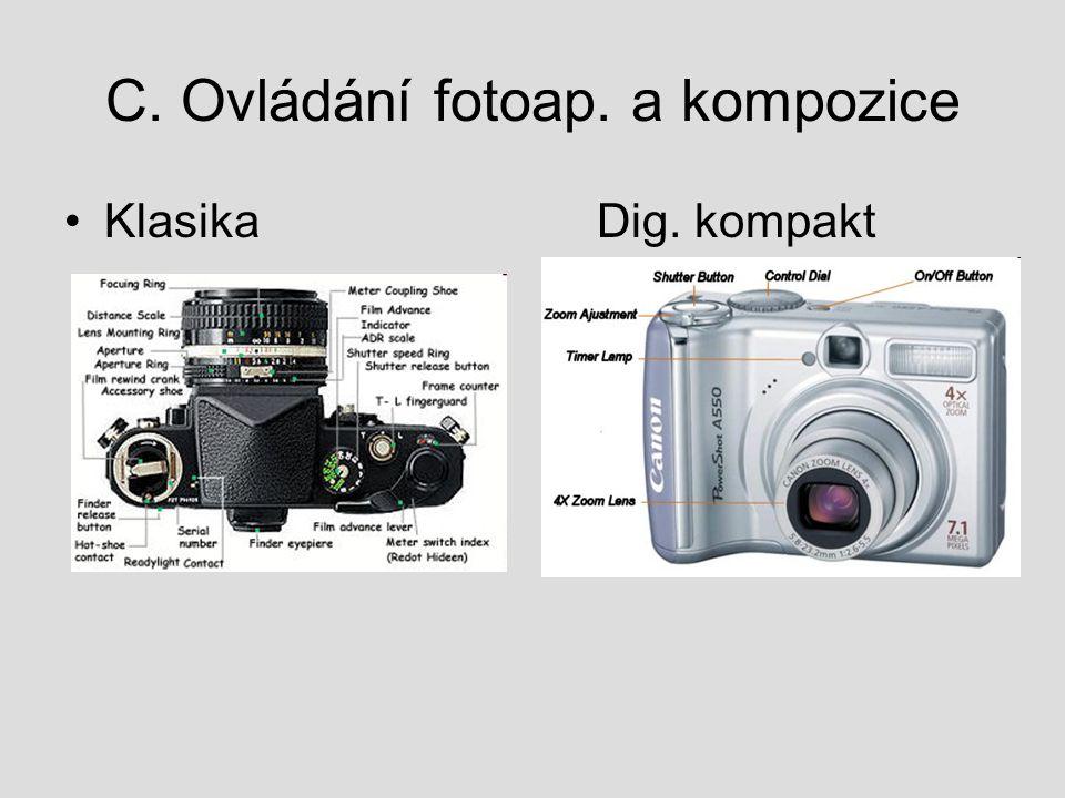 C. Ovládání fotoap. a kompozice KlasikaDig. kompakt