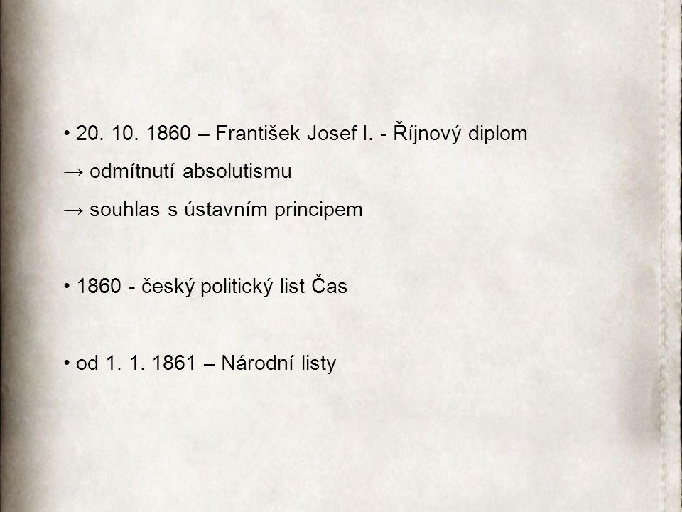 20.10. 1860 – František Josef I.
