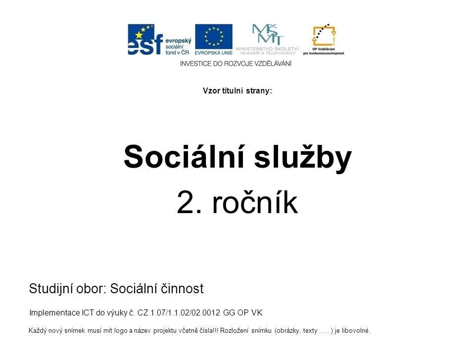 Vzor titulní strany: Sociální služby 2.