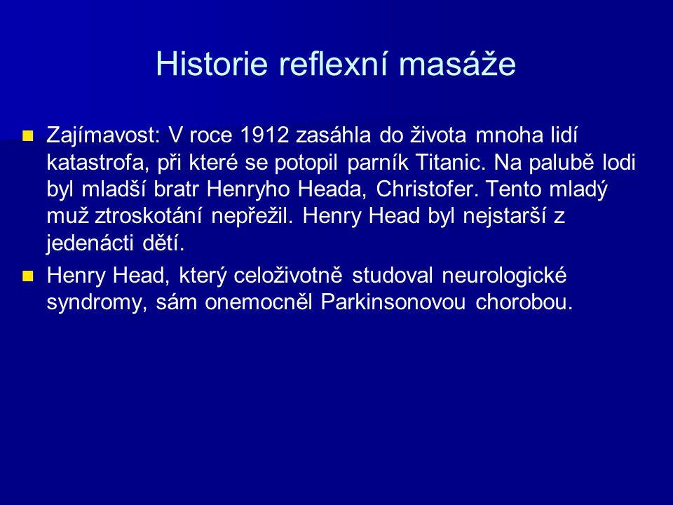 Historie reflexní masáže Zajímavost: V roce 1912 zasáhla do života mnoha lidí katastrofa, při které se potopil parník Titanic. Na palubě lodi byl mlad
