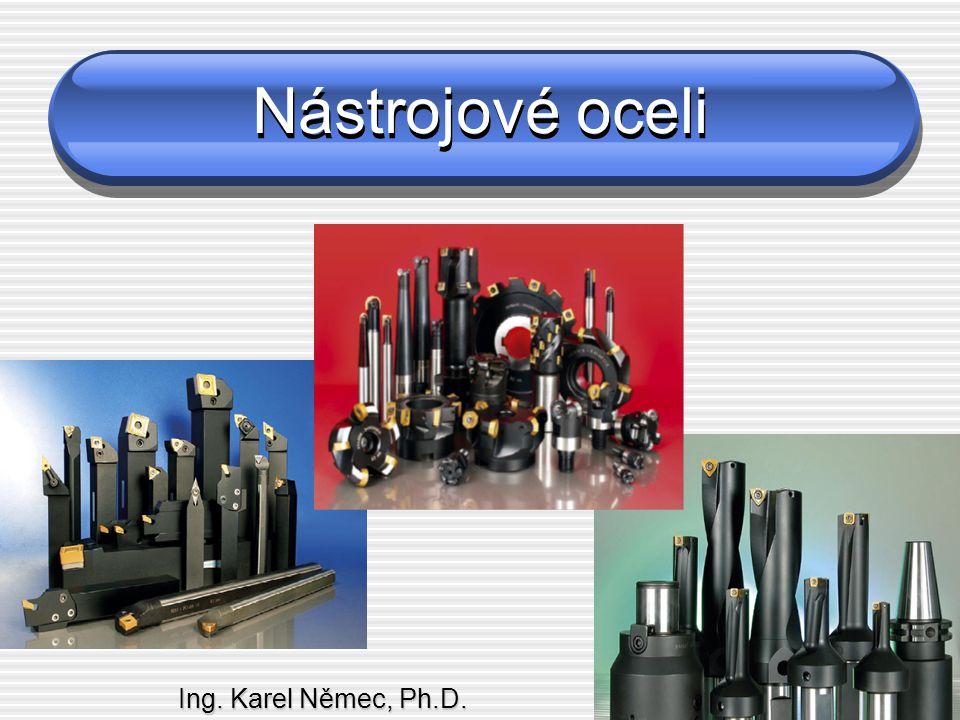 Rozdělení nástrojových ocelí podle chemického složení dle ČSN EN  Podle ČSN 420002 Nelegované nástrojové oceli  Nízkouhlíkové (0,3 – 0,6 % C)  Středněuhlíkové (0,5 – 1,1 % C)  Vysokouhlíkové (1,0 – 1,5 % C) Legované nástrojové oceli  Nízkolegované (do 5% legur)  Střednělegované (5 – 10% legur)  Vysokolegované (nad 10% legur) Rychlořezné oceli  Oceli pro běžné použití  Výkonné oceli  Vysoce výkonné oceli (+ Co)  Podle ČSN EN-10027-1 Nástrojové oceli nelegované  C35U (19065)  C105U (19191)  C125U (19255) Nástrojové oceli legované  90MnV8 (19312)  35CrMo8 (19520)  X210Cr12 (19436) Rychlořezné oceli  HS 3-2-2 (19820)  HS 6-5-2 (19830)  HS 10-5-3-10 (19861)