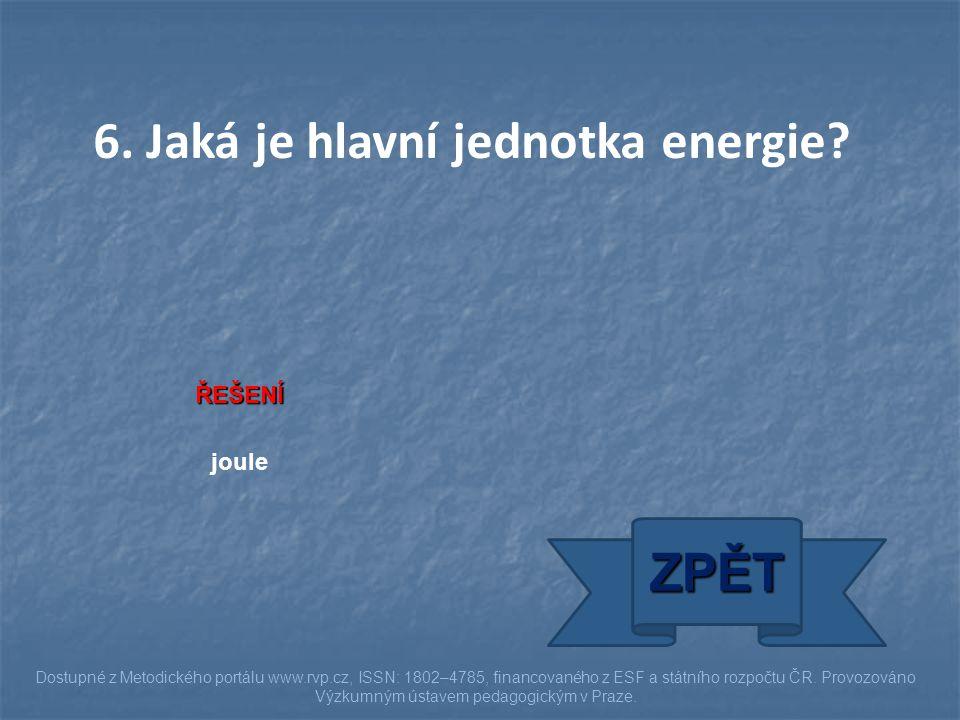 ZPĚT Dostupné z Metodického portálu www.rvp.cz, ISSN: 1802–4785, financovaného z ESF a státního rozpočtu ČR. Provozováno Výzkumným ústavem pedagogický