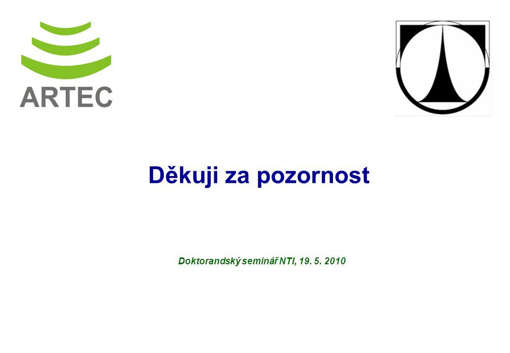 Výzkumné centrum Pokročilé sanační technologie a procesy Doktorandský seminář NTI, 19.